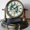 Monkey Barber Animated Mantel Clock