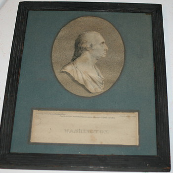 George Washington framed piece?
