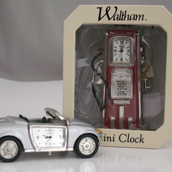 Mini car & Gas Pump Clocks