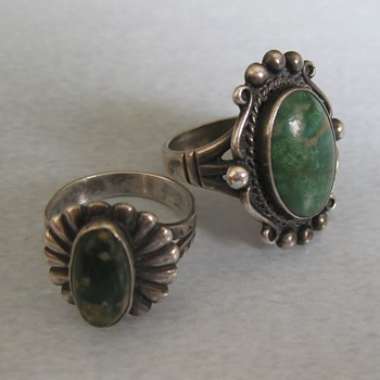 Unknown Native American green turquoise rings - part 3