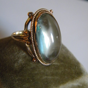 Antique Victorian RARE Green Tourmaline Gold Knuckle Ring VS Clarity!