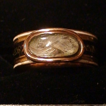 "Georgian Mourning Ring 1809 Nannette ""Ann"" Margaret Prevost Wife of Major General Augustin Prevost"
