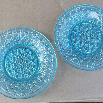 Pretty blue glass plates