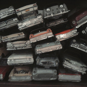 Some cars just weren 't nice enough for a shelf..  Other's had un-noticeabke imperfections giving them character... - Model Cars