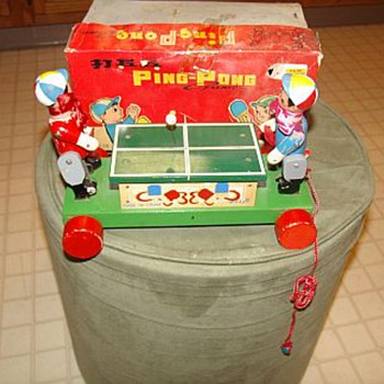a rare find...ping pong pull toy????