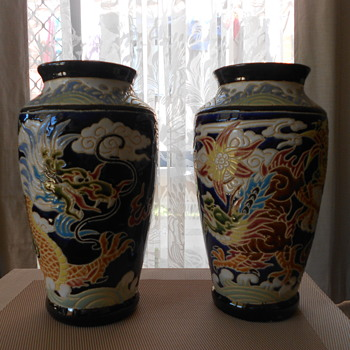 Two matching vases