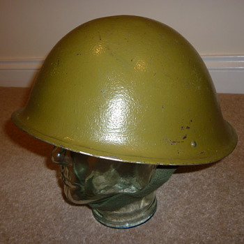 British steel helmet from 1960's-1970's.