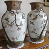 Two large Japanese &#039;appliqu&#039; vases