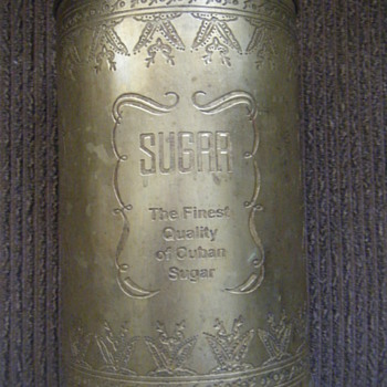 20's cuban sugar solid brass can