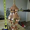 spirit heated copper,brass & pewter coffee / tea maker