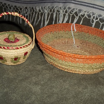 Baskets made by Hazel Pete, Chehalis Tribe