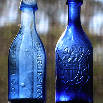 ~~~Four Charleston Pontiled Soda Bottles~~~ - Bottles