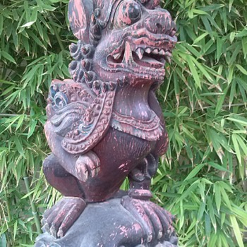 whereabouts wooden statue - Asian