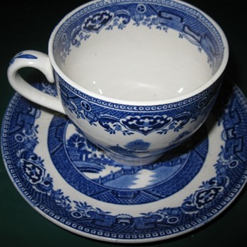 old willow tea cup and saucer - China and Dinnerware