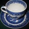 old willow tea cup and saucer