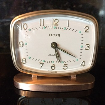 German Florn Desk Clock