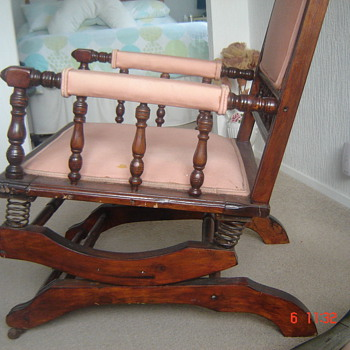 Dexter rocking chair with 6 spring suspension - Furniture