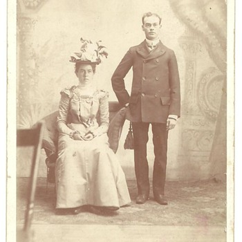 Cabinet Card of John LeRoy Mitchell &amp; Malissa (Hartman) Mitchell