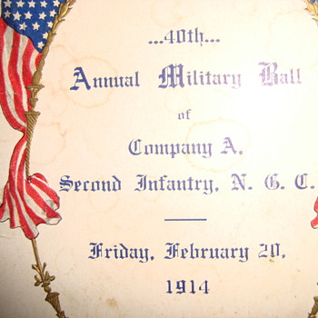 Millitary Ball Dancecard circa 1914
