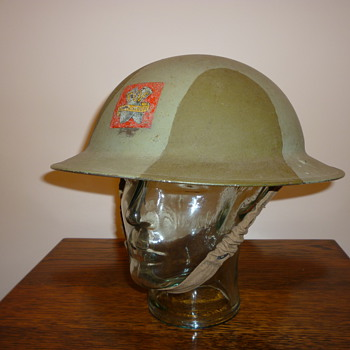 British WWII Royal Ordnace Factory steel helmet - Military and Wartime