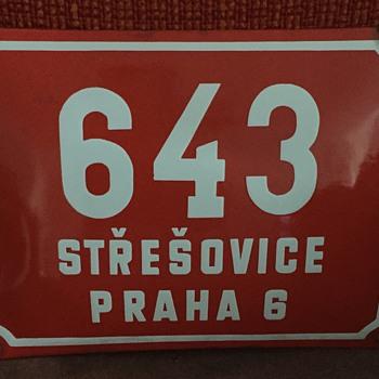 Metal Czech Republic street sign.
