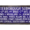 1940's Porcelain New York City NYC IRT Subway Sign