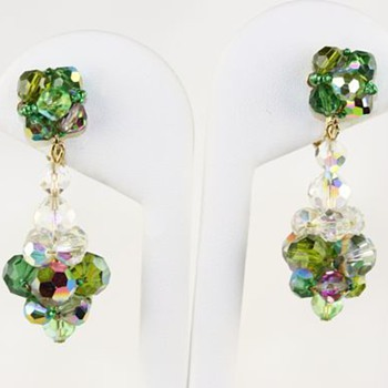 Vendome aurora borealis earrings - Costume Jewelry
