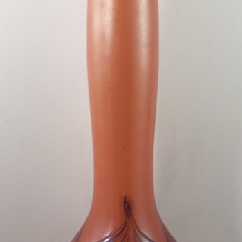 Bohemian/Bavarian Pulled Feather Vase, ca. 1900 - Art Glass