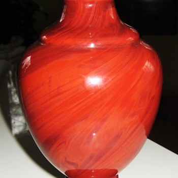 Red Hyalith Vase from Harrach - Art Glass