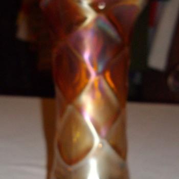 Carnival glass vase.