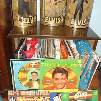A part of my Elvis LPs Collection/record cabinet