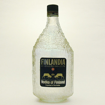 FINLANDIA vodka bottle, Tappio Wirkkala