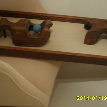 mid-cen wooden sculpture of unknown origin - Mid-Century Modern