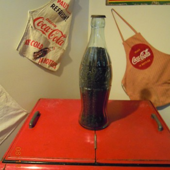 "1930's, 20"" Glass Display Bottle, ""Christmas Coke"""