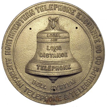 Northwestern Telephone Exchange Co. Bronze Plaque - Telephones