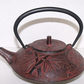 Chinese Japenese Cast Iron Teapot - Asian