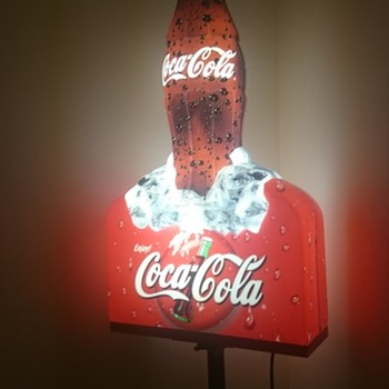 My Husbands Decorative Lighting! - Coca-Cola