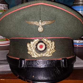 A visor cap of a Nazi Panzer-Abwehr (tank destroyer) battalion NCO - Military and Wartime