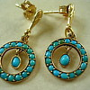Art Nouveau turquoise earrings