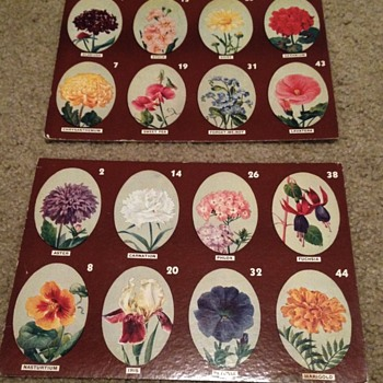 Vintage Flower Game Boards - Games