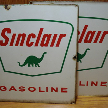 1960s? Sinclair Gasoline Pump Signs