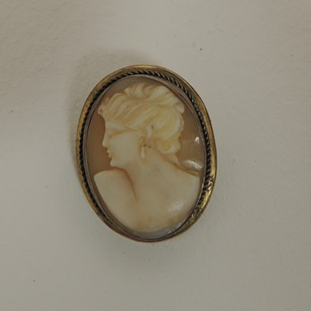 Late 19 Century Cameo - Carved Shell and Metal