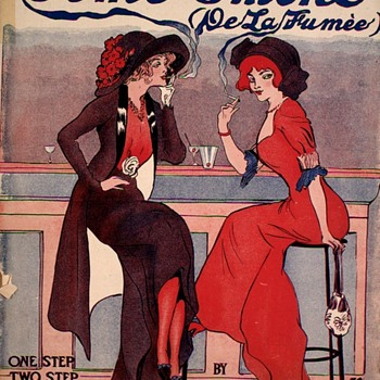 "SHEET MUSIC ""SOME SMOKE"" ( 1913 )One Step, Turkey Trot, Syncopated - Visual Art"