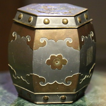 Lead or Zinc Canister from Hong Kong - Asian
