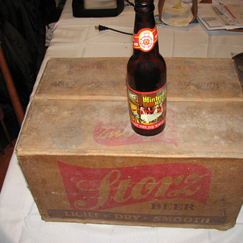 Storz Beer Winterbru 24 bottles and orginal wax/cardboard box.