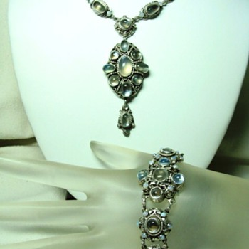 Antique Austro Hungarian Necklace and Bracelet Set  - Fine Jewelry