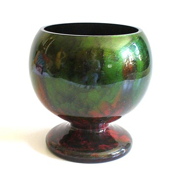 LOETZ TITANIA FOOTED BOWL - Art Glass