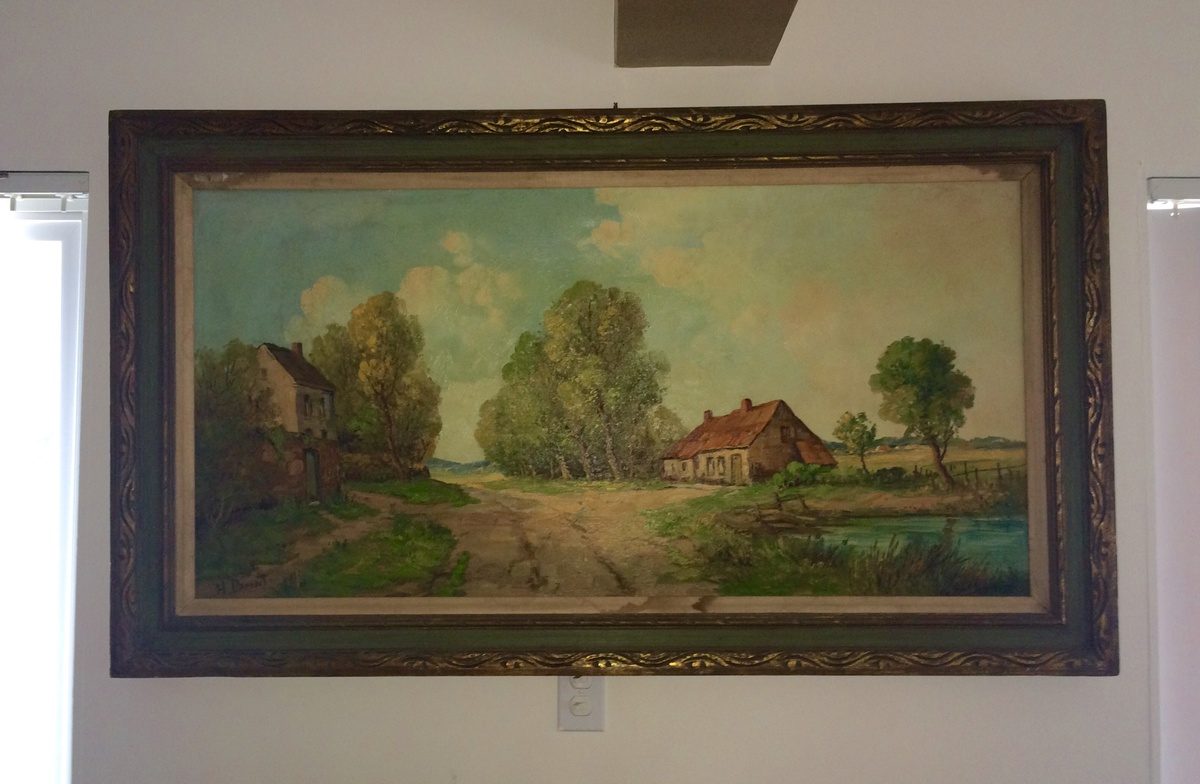 Vintage Antique Original Oil Painting By H Brent French