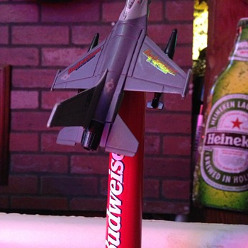 Budweiser Air Force F-16 Tap - Breweriana