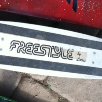 freestyle vintage aluminum skateboard